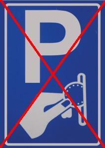 Sloop de parkeermeters…